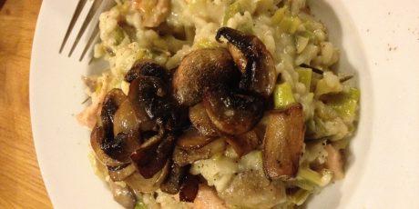 Leek and Mushroom Risotto