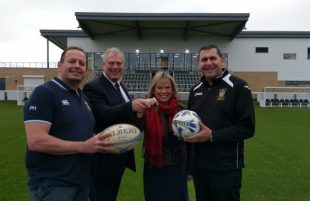 Keys presented to Melksham rugby and football clubs
