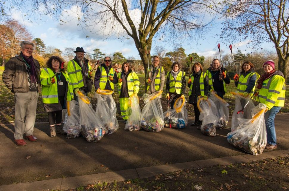 Council staff help to Clean Up in their lunch breaks