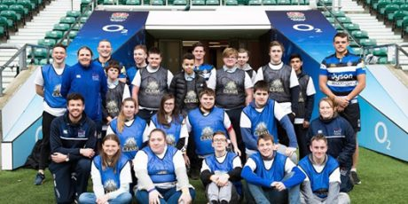 Bath Rugby coach Mixed Ability children to promote inclusivity within rugby