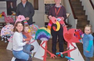 Flamingos a go-go in Broadmead over Easter