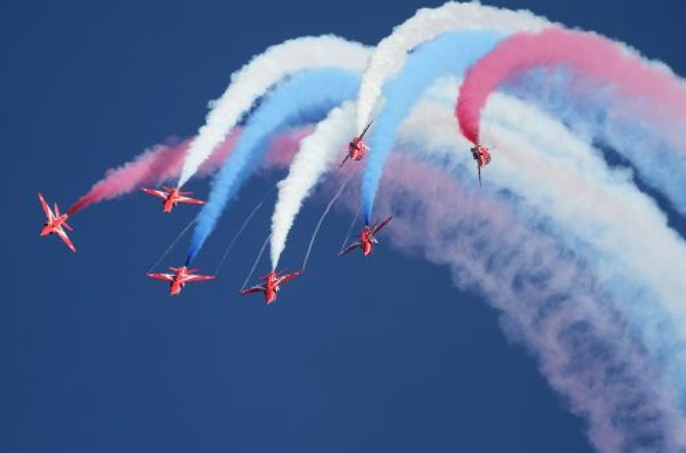 RAF100 – The Red Arrows headline tribute to the Royal Air Force's centenary at Royal Naval Air Station Yeovilton
