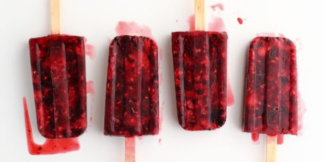 Mixed berry freeze pops