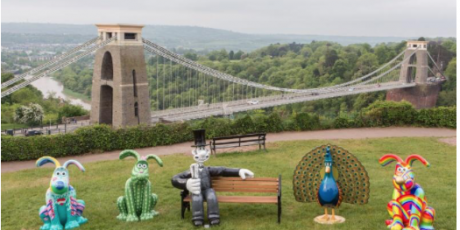 Gromit Sculpture arriving at Puxton Park on 2nd July 2018