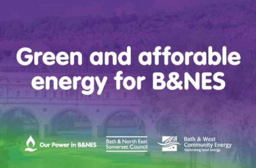Our Power energy scheme launched in Bath and North East Somerset