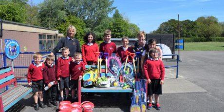 Puxton Park Donates Toys to Local School