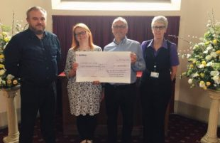 Bereavement charity receives £8,000vement charity receives £8,000