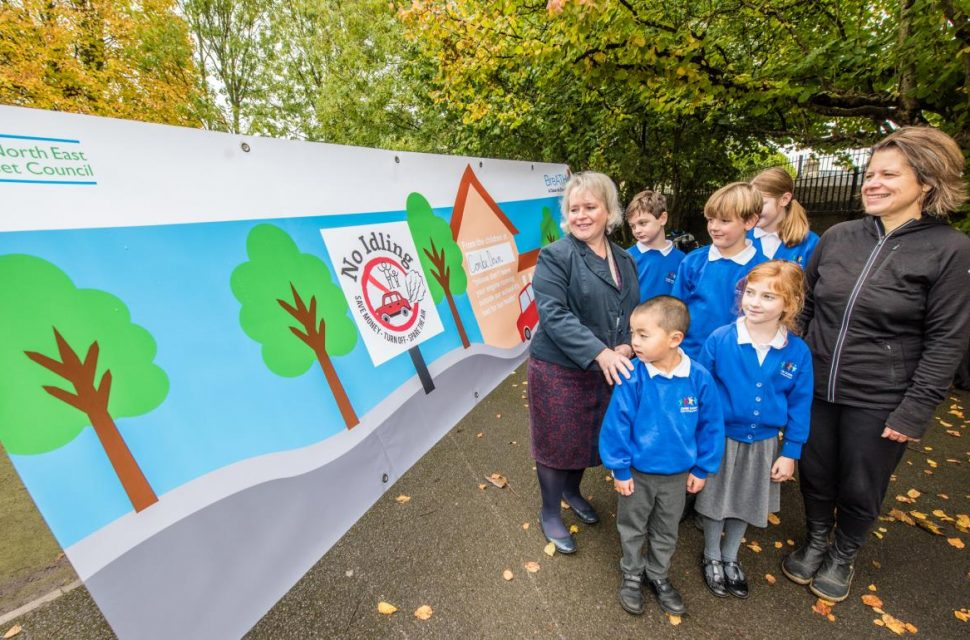 New campaign launched to stop motorists idling outside school gates