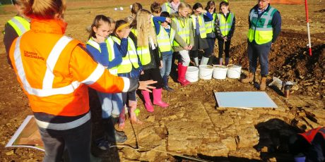 Pupils get early sight of ancient Somerton settlement