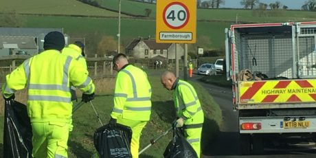 Main roads litter clear-up launches across North East Somerset