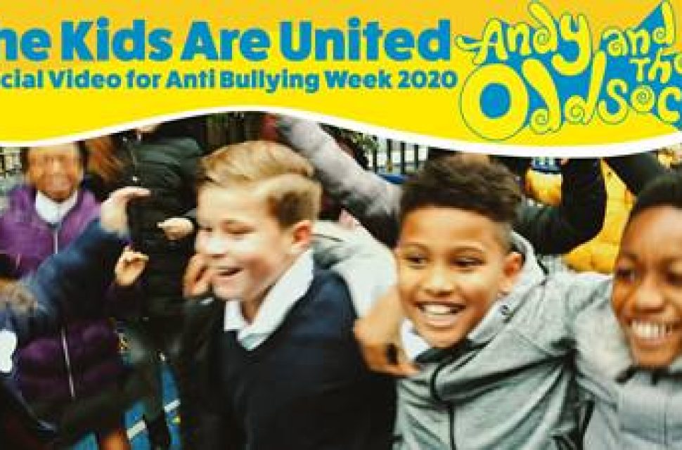 Official video for Anti-Bullying Week 2020 theme tune released November 3rd 2020