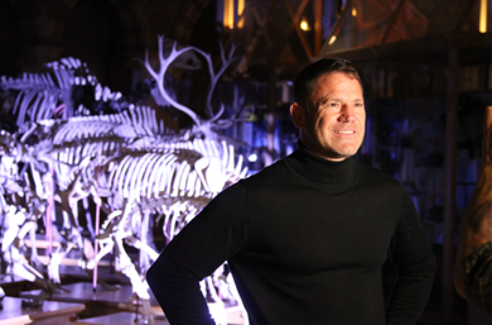 Wildlife presenter Steve Backshall leads unique Mystery at the Museum online 'escape room' event at Oxford's Museum of Natural History