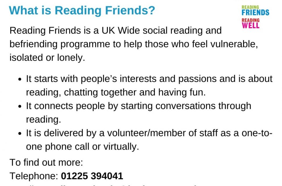 New Reading Friends project to combat loneliness through literature