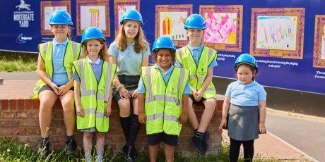 Primary School children create hoarding designs for new Northgate Yard development