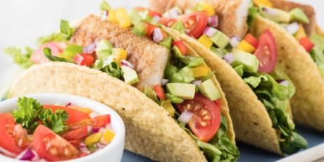 Fish finger tacos